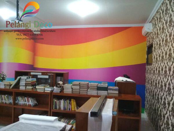 Pemasangan Wallpaper di SMA Muhammadiyah Yogyakarta